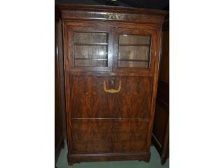 Bureau-commode-vitrine d'époque Louis Philippe en acajou de Cuba