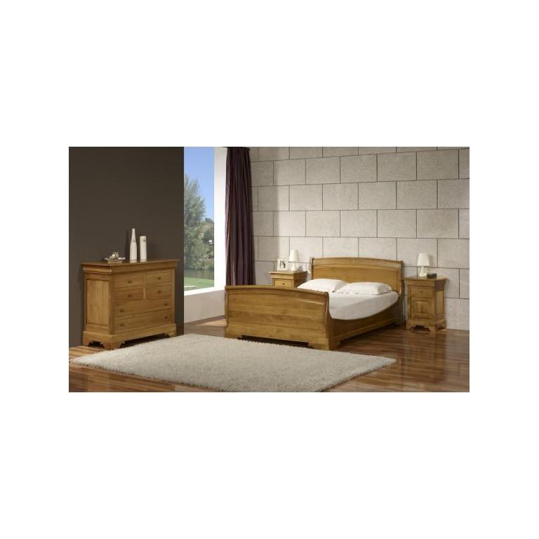 Chambre à coucher chêne ou merisier massif