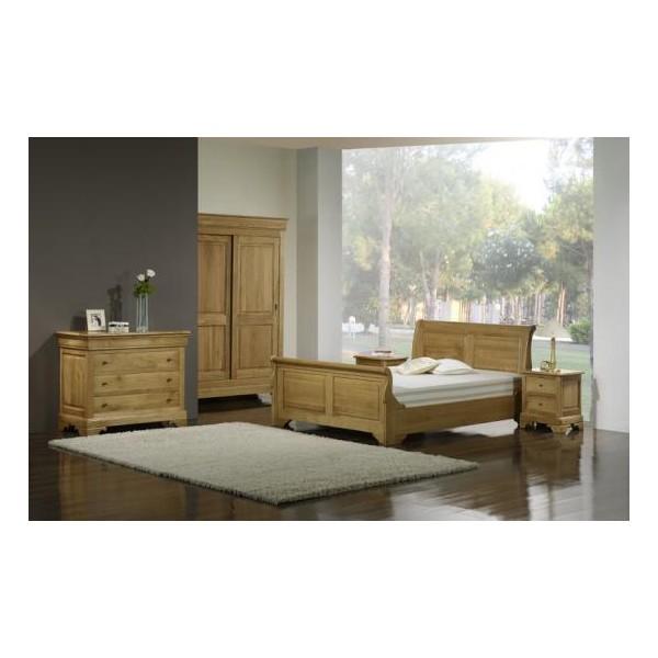 Chambre à coucher 100 % massive en chêne