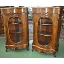 Paire de petits meubles d'appui en noyer d'époque Napoléon III