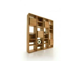 Bibliothèque modulaire contemporaine Design Italien en chêne massif