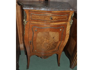 Petit meuble d'appui marqueté Louis XV