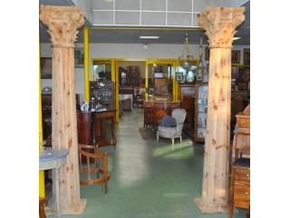 Paire de colonnes 4 faces  neuves en sapin